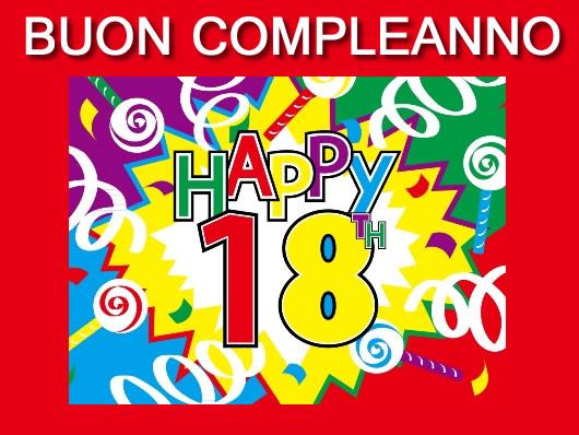 Auguri per festa 18 anni